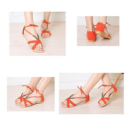 Donalworld Women Tassel Casual Summer Sandals Beach Shoes Beige vl3qv1YlCM