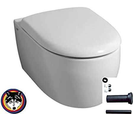 Hygienic KeraTect 203245 Keramag Icon Wall Toilet Rimless Soft-Close