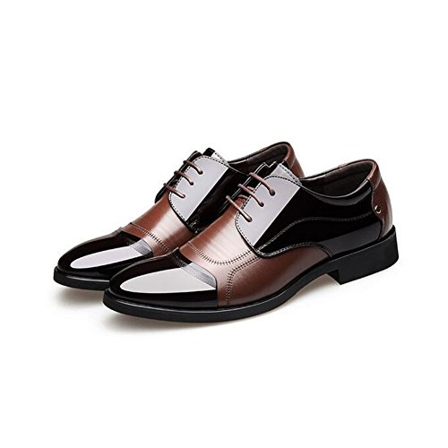 Brown Black Size HUAN Color Brown Career Shoes Formal Wedding amp; Men's Dress Office Shoes 42 for qOBwaxq