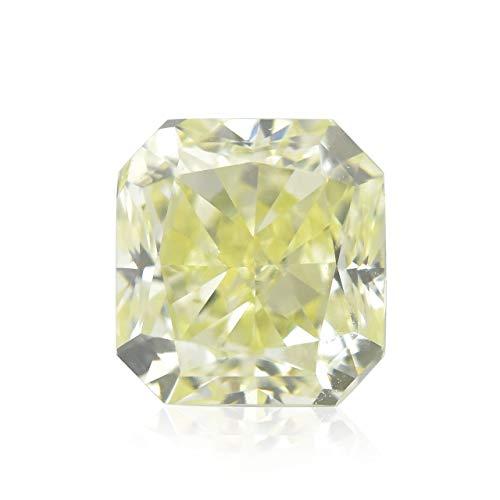 0.67 Carat Y-Z, Light Yellow Loose Diamond Natural Color Radiant Cut IGI Cert