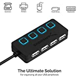 Sabrent 4-Port USB 2.0 Hub with Individual LED lit
