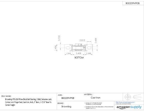 "VPLE-216 Browning Mounted Cast Iron Pillow Block Bearing 1/"" Bore"