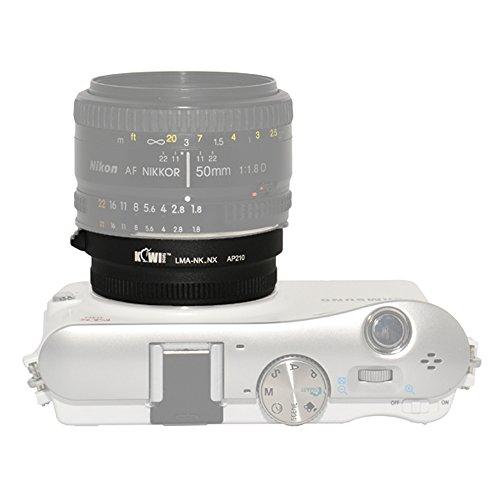 Kiwifotos LMA-NK_NX Lens Mount Adapter For Nikon F and AI Lens to Samsung NX10 NX5 NX100 NX11 NX200 NX20 NX1000 NX300 Camera Mount Adapter