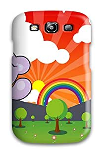 ZFSnwQn13356cwqiw Tpu Case Skin Protector For Galaxy S3 Rainbow Rat Bear With Nice Appearance