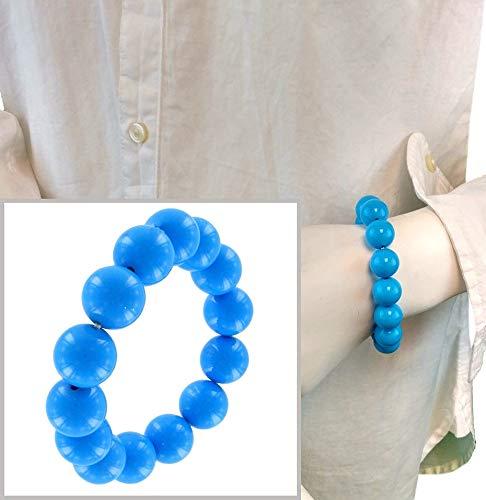 Adjustable Stretch Bracelet for Women Length Fashion Lucite Beaded Stretch Bracelet for Women Bright Blue One Size
