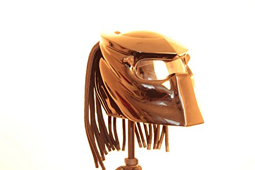 Predator Motorcycle Helmet X1 GOLD with Led Lamp made by XFF Fiber Factory (XL)
