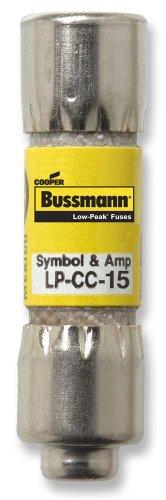 Bussmann LP-CC-15 15 Amp Low-Peak Time Delay Current Limiting Class CC Rejection Cartridge Fuse, 600V UL (600 Cc Cartridge)