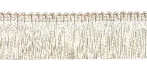 Cream Brush Fringe - DecoPro 5 Yard Value Pack of Ivory, 1 1/4