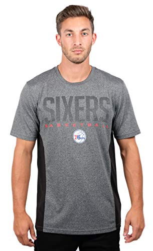eb70385bd7e NBA Philadelphia 76ers Men's T-Shirt Athletic Quick Dry Active Tee Shirt,  Large, Charcoal