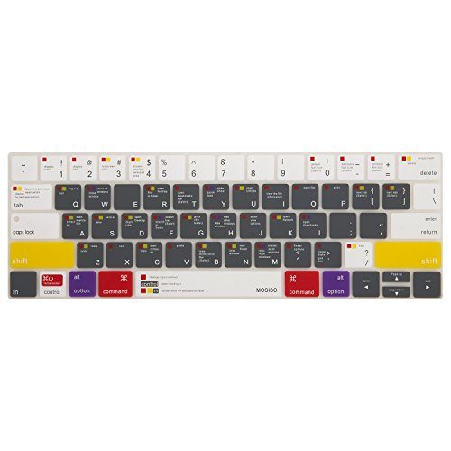 Mosiso Keyboard Cover for Touch Bar Models Newest Version Ma