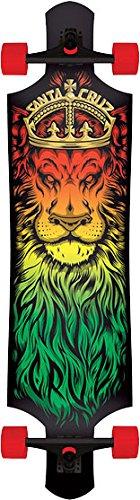 Santa Cruz Drop-Thru Lion God Complete Skateboard - 10x40