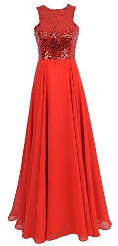 MACloth - Robe - Trapèze - Sans Manche - Femme rouge rouge 52