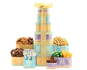 Wine Country Gift Baskets Sweet and Salty Tower