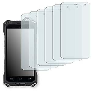 6x Golebo Semi-Matt protectores de pantalla para Getnord Onyx - (efecto antirreflectante, montaje muy fácil, removible sin residuos)