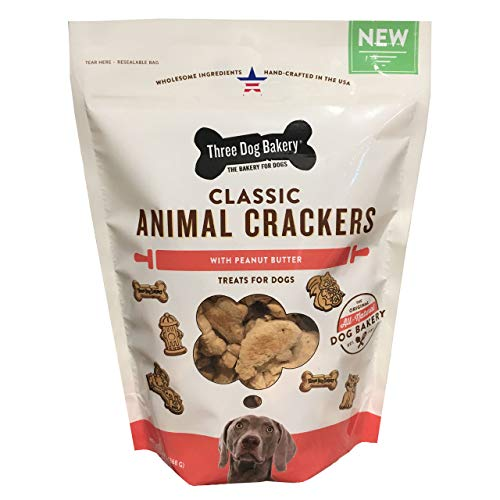 Three Dog Bakery Classic Animal Crackers Treats For Dogs, 13 Oz ()
