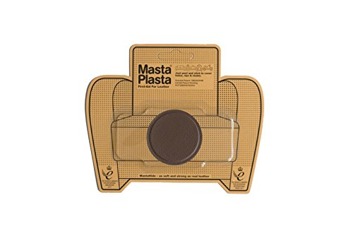 MastaPlasta Self-Adhesive Patch for Leather and Vinyl Repair, Small Circle, Brown - 2 Inch Diameter - Multiple Colors Available
