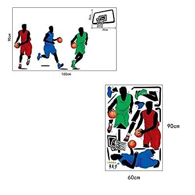 BIBITIME Play Basketball Wall Sticker BOY Vinyl Decor Kids Room Sports Home Decal Art