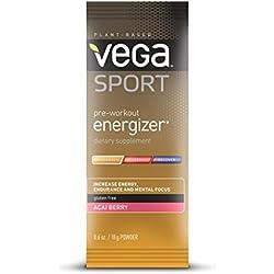 Vega Sport Pre-Workout Energizer, Acai Berry, 0.6oz, 12 Count