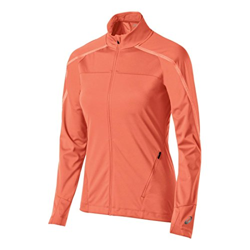 Womens ASICS Lite-Show Winter Jacket, Living Coral, X-Small