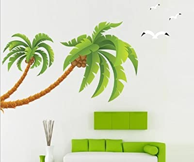 Eden Art-DIY Home Decor Art Removable Wall Decal Large Palm Tree Wall Stickers #90