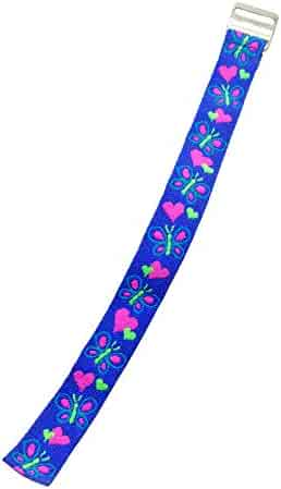 Timex Youth T89001 Replacement Watch Band Hearts and Butterflies Elastic Fabric Strap