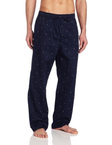 Nautica Men's Woven J-Class Pant,  Maritime Navy, Medium - Mens Sleepwear Pants