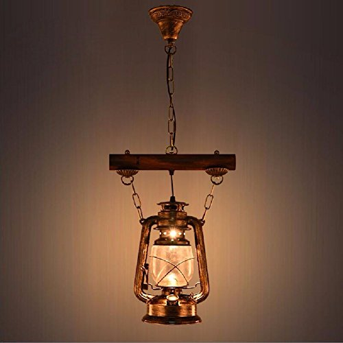 HQLCX Chandelier Chinese style retro lantern bar aisle diffuse coffee bar single head Chandelier by HQLCX-Chandeliers