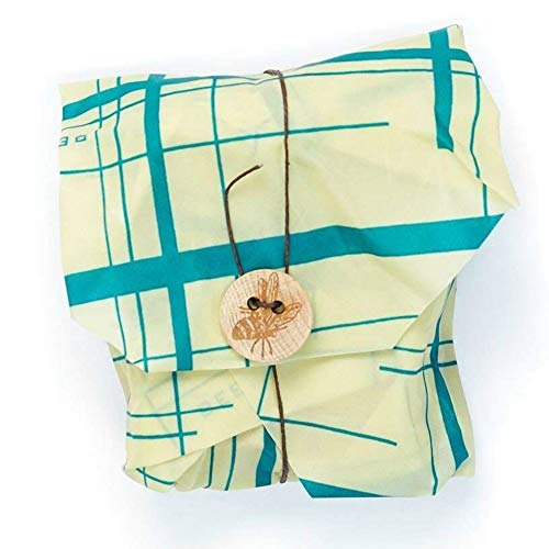 Bees Wrap Sandwich Wrap, Eco Friendly, Reusable, and Sustainable Plastic Free Food Storage for Wrapping Sandwiches - Geometric Print