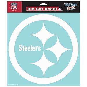 Pittsburgh Steelers NFL Vinyl Die Cut Window Decal Auto Car Logo White 8x8 Sticker Football Licensed Team Logo