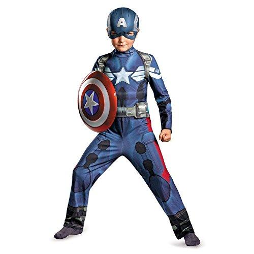 [Disguise Marvel Captain America The Winter Soldier Movie 2 Captain America Classic Boys Costume, Medium] (Captain America Boys Costumes)