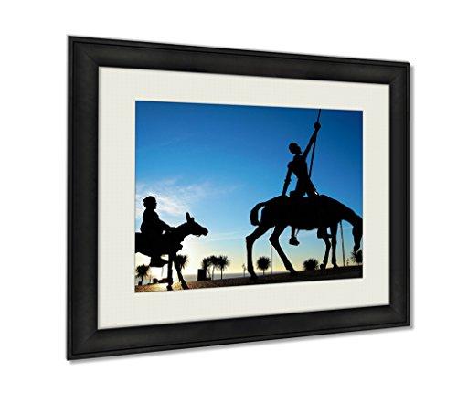 Ashley Framed Prints The Artful Hidalgo Don Qvixote De La Mancha Wall Art Decor Giclee Photo Print In Black Wood Frame, Soft White Matte, Ready to hang 16x20 art