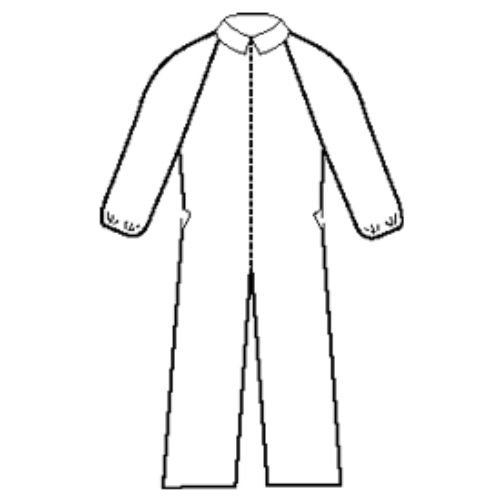 Halyard Health 10085 Extra Protection Coverall, Elastic Wrist and Cuff, X-Large, White (2 Poly Bags of 12, 24 Total)
