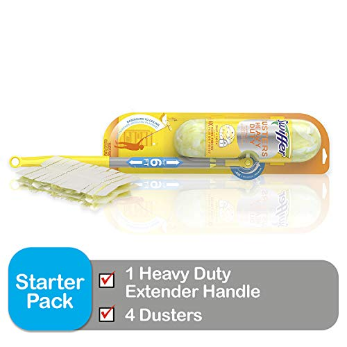 Swiffer Dusters Heavy Duty Super Extender Handle Starter Kit (Packaging May - Extended Kit