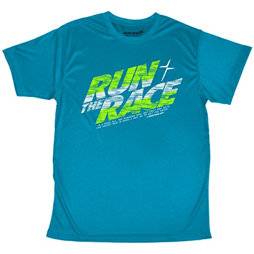 Active Run Tee - Kerusso-Run The Race Adult Active T-Shirt-2X-Large - Christian Fashion Gifts