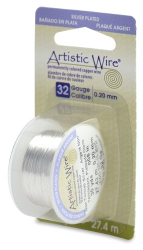 Artistic Wire 32-Gauge Tarnish Resistant Silver Wire, 30-Yard
