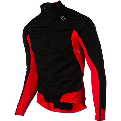 (Gore Bike Wear Men's Xenon 2.0 Soft Shell Jersey, Black/Red, Small)