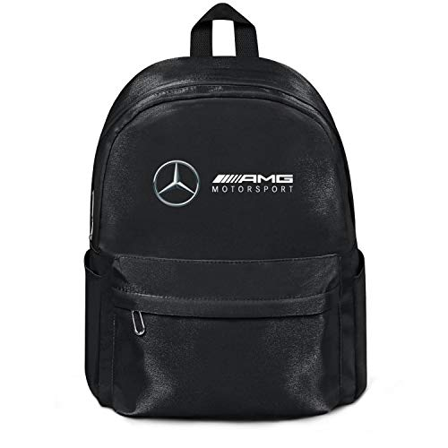 Womens Girl Boys College Bookbag Mercedes-AMG-motorsport-Logo- Casual Nylon Water Resistant Travel Daypack Backpack Bag Black