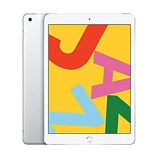 Apple iPad (10.2-Inch, Wi-Fi + Cellular, 128GB) - Silver (Latest Model) (Renewed)