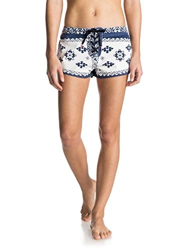 Roxy Women's Fashion Folk Boardshort, White, Medium
