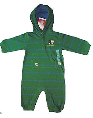 Carter's Baby Boy's 6 Months Hooded Green Dumptruck Romper, Daddy's Helper