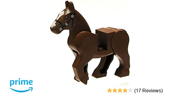 Reddish Brown Rearing Horse with Movable Limbs Lego Animal Minifigure