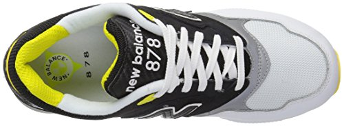 New Balance Mens 878 90s Running Colore Continuo Pack Pack Sneaker Nero / Bianco