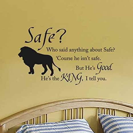 Amazon.com: Chronicles of Narnia Aslan Safe Boys Room Wall Decal ...