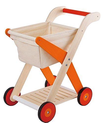 Amazoncom Lelin Children Kids Wood Wooden Shopping Trolley Cart