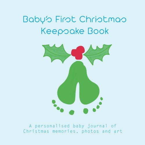 - Baby's First Christmas Keepsake Book (blue): personalised baby journal of Christmas memories, photos, art and fun stuff