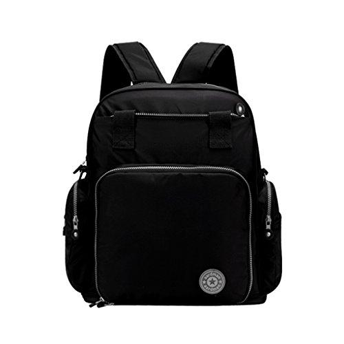 Mommy Bag Multifunción de alta capacidad mamá bolsa hombros Madre paquete madre-bebé bolsa fuera de la mochila Messenger ( Color : Grape Violet ) Texture Black