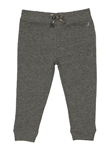(Nautica Baby Girls' Super Soft Fleece Pant with Metallic Rope Tie, Medium Grey Heather, 18 Months)