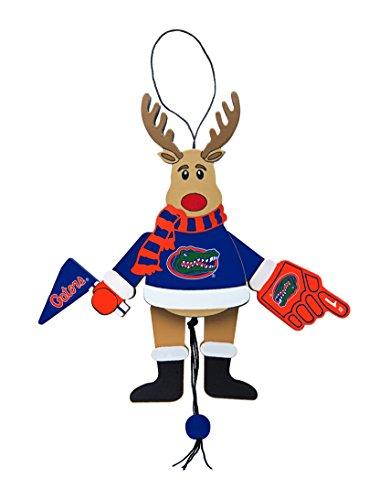 - NCAA Florida Gators Wooden Cheer Ornament