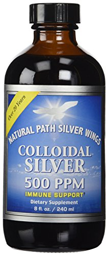 Colloidal Silver 500ppm Natural Path Silver Wings 8 oz Liquid