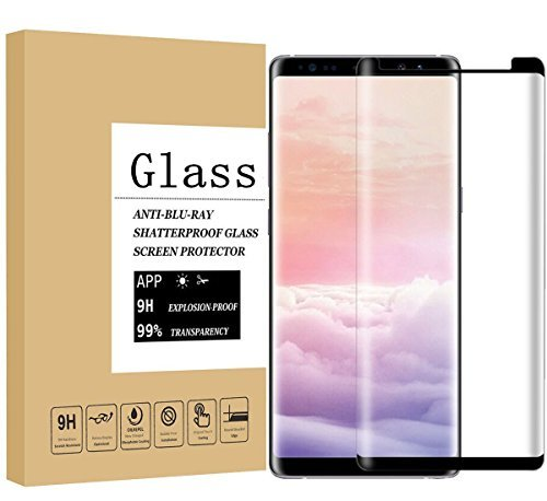Galaxy Note8 Screen Protector,Wtbone [3D Curved Edge][Case Friendly] Ultra Clear 9H Hardness Tempered Glass Screen Protector Bubble-Free Film for Samsung Galaxy Note 8 2017, black